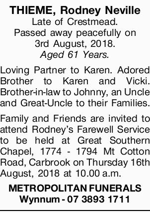 THIEME, Rodney Neville