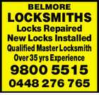 BELMORE LOCKSMITHS