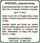 WENZEL, Jeanette Irene