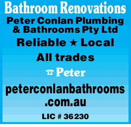 Bathroom Renovations   Reliable Local All trades   Peter   peterconlanbathrooms .com....