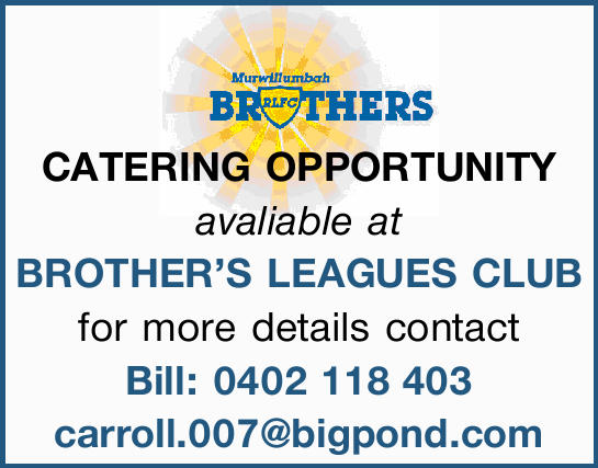 CATERING OPPORTUNITY