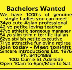 Bachelors Wanted