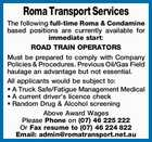 ROAD TRAIN OPERATORS