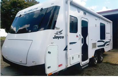 <p> JAYCO SILVERLINE Dec 2014, full ens, solar, A/C, 2 TVs, outside shower, satellite TV ant, luxury...