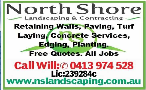 Retaining walls, Paving, Turf Laying,