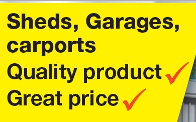 Sheds, Garages, Carports