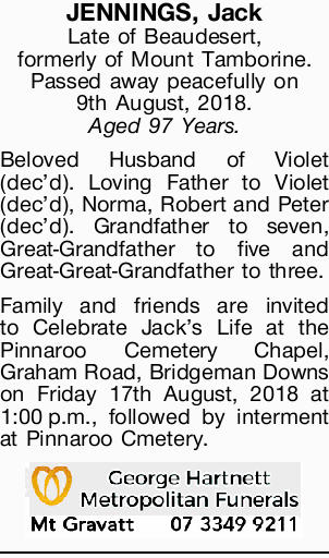 JENNINGS, Jack 