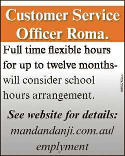 Full time flexible hours for up to twelve monthswill consider school hours arrangement. See website...