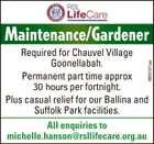 Maintenance/Gardener