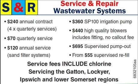 <p> • $240 annual contract (4 x quarterly services)<br /> • $70 quarterly service</p>