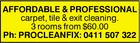 Pro Clean Fix