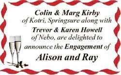Colin & Marg Kirby of Kotri, Springsure along with Trevor & Karen Howell of Nebo, are deligh...