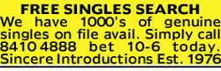 FREE SINGLES SEARCH