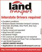 Interstate Drivers required