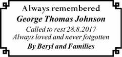 Always remembered