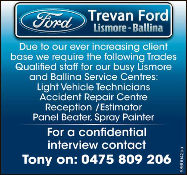 Due to our ever increasing client base, we require the following Trades