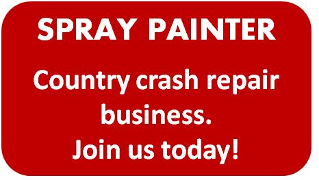 A full time position is available for a qualified spray painter in country crash repair business....