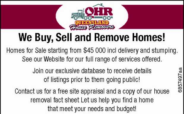 We Buy, Sell and Remove Homes!