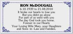 RON McDOUGALL