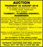 AUCTION THURSDAY 30 AUGUST 2018
