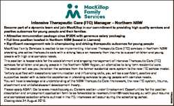 6856405aa Intensive Therapeutic Care (ITC) Manager - Northern NSW Become part of a dynamic team and...