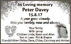 In Loving memory 15.8.17 A year gone already. ways. Miss you terribly, now and always 6858440aa Pete...