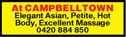 At CAMPBELLTOWN Elegant Asian, Petite, Hot Body, Excellent Massage 0420884850