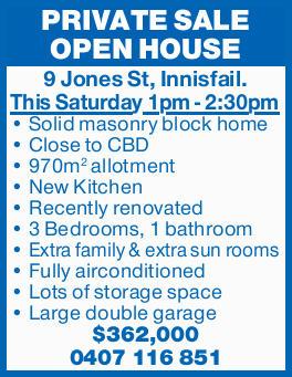 Solid masonry block home  Close to CBD  970m2 allotment  New Kitchen  Rec...