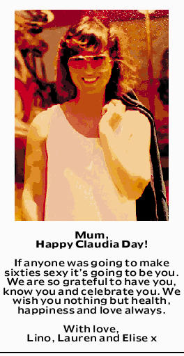 Mum, Happy Claudia Day!