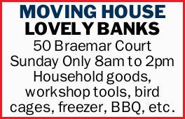 <p> Sunday Only </p> <p> 8am to 2pm </p> <ul> <li> Household goods</li> <li> Workshop...</li></ul>