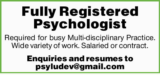 Required for busy Multi-disciplinary Practice in Townsville. Wide variety of work. Salaried or co...