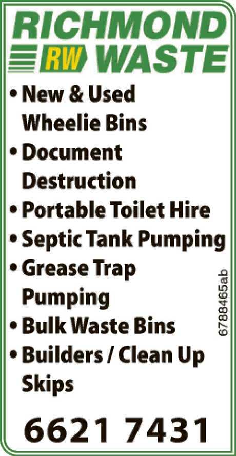 <p> •New & Used Wheelie Bins<br /> •Document Destruction<br /> •Portable...</p>