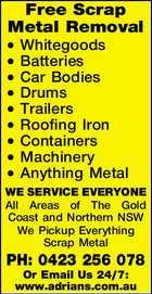 Free Scrap Metal Removal