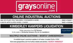 ONLINE INDUSTRIAL AUCTIONS   5ML R/O PLANT, POLY WELDERS, CONTAINERS & MORE........SALE #...