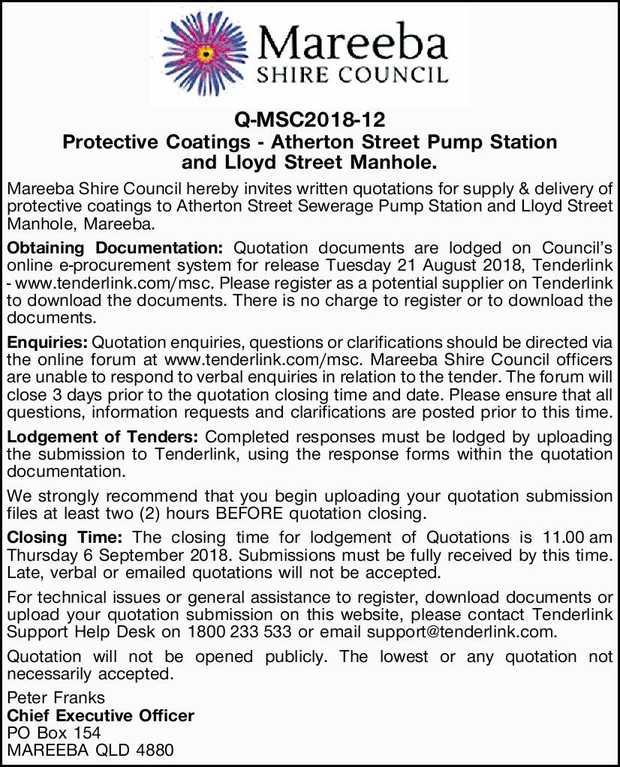 Q-MSC2018-12 Protective Coatings - Atherton Street Pump Station and Lloyd Street Manhole.    ...