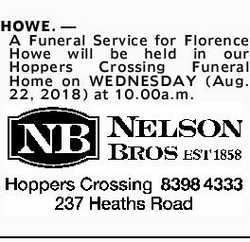 Browsing Funeral Notices   NSW & QLD Classifieds   Geelong