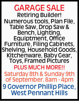 <p> Retiring Builder! Numerous tools, Plan File, Table Saw, Drop Saw & Bench, Lighting...