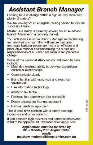 Assistant Branch Manager Looking for a challenge within a high activity store with plenty of variety?...