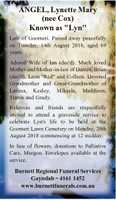 """(nee Cox)   Known as """"Lyn"""" Late of Goomeri. Passed away peacefully on Tuesday, 14th..."""