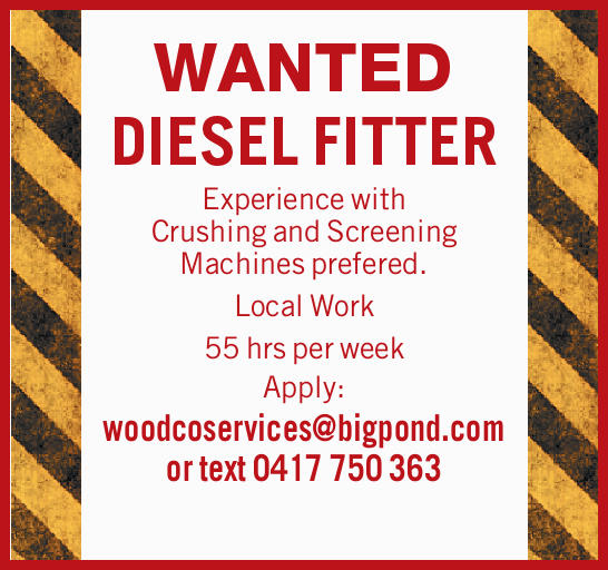 WANTED DIESEL FITTER