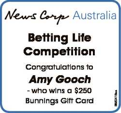 Betting Life Competition Congratulations to - who wins a $250 Bunnings Gift Card 6860416aa Amy Gooch