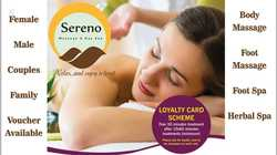 SerenoMassage & Day Spa845 Glen Huntly road, Caulfield south 3162 (03) 9078 8827  OR T...