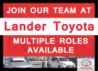 Lander Toyota Career Opportunities!