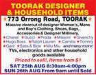 TOORAK DESIGNER & HOUSEHOLD ITEMS