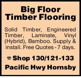 Big Floor Timber Flooring   Solid, laminate, floating & bamboo.   Supply & instal...