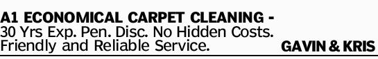 A1 ECONOMICAL CARPET CLEANING - 30 Yrs Exp. Pen. Disc. No Hidden Costs. Friendly and Reliable Ser...