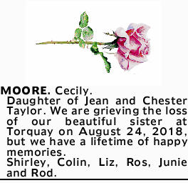 MOORE. Cecily.