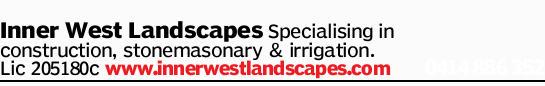 Inner West Landscapes   Specialising in construction, stonemasonary &irrigation. ...