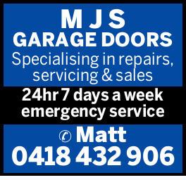 M J S GARAGE DOORS   Specialising in repairs,   servicing & sales   24hr 7 days a...