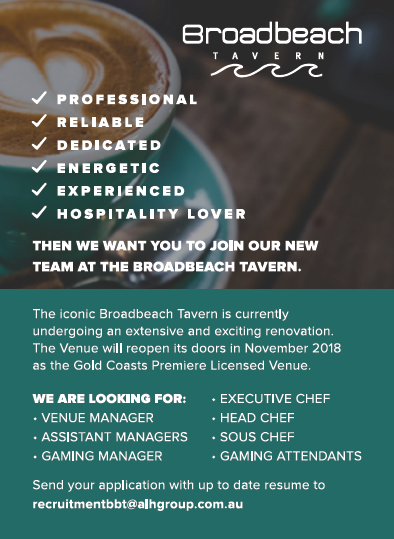 The iconic Broadbeach Tavern is currently undergoing an extensive and exciting renovation. The ve...